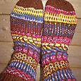 simple stripes fair isle socks