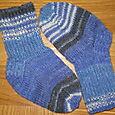 blue opal baby socks