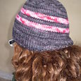 ribbed brim hat