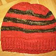Red Ribbed Brim Hat