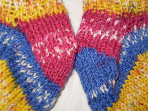 detail of baby socks